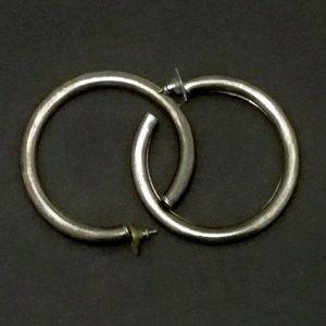 Vintage Super-Sized Sterling Silver Hoop Earrings