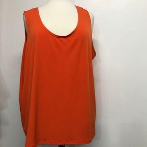 Slinky Brand Orange Sleeveless Top