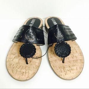 🆕 Sam & Libby Black Whip Stitch Flat Sandals! 🆕