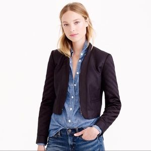 J.crew cropped jacket quilted sleeve EUC sz 4