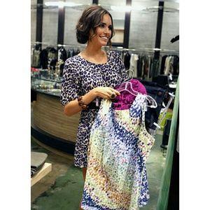 Purple Leopard Print Dress