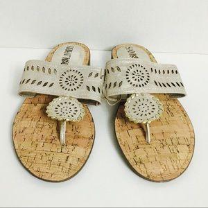 🆕 Sam & Libby Champagne Whip Stitch Flat Sandals!