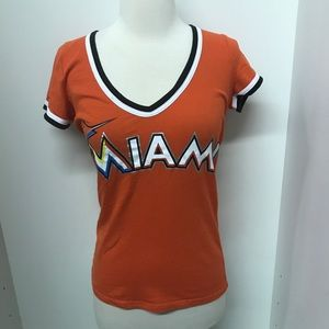 Pink Victoria's Secret Miami marlins orange tee