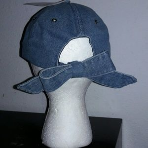 Bow denim hat