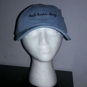 Bad hair day denim hat
