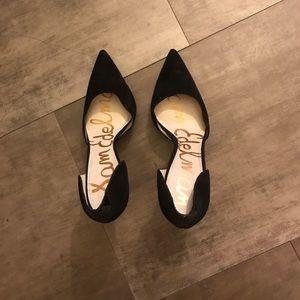 Sam Edelman Black Velvet pointy toe heels