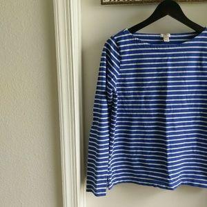 J. Crew Striped Basic Shirt S