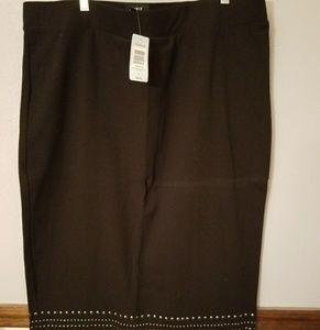 Torrid black studded midi skirt NWT size 3