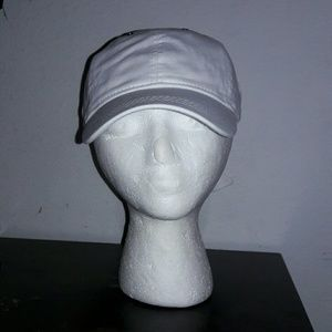 White bad hair day hat