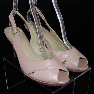 Liz Claiborne 'Jacqueline' peep toe slingback 7.5M