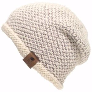 The North Face seed stitch beanie hat