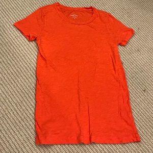 J Crew Orange cotton T-shirt