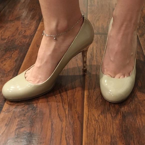 6460a1f710 kate spade Shoes - Kate Spade Karolina nude pumps w/ ocelot heel