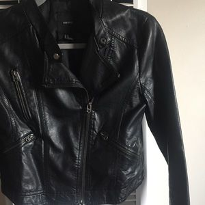 Forever 21 Faux Motorcycle Style Leather Jacket