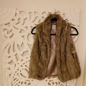 BCBGeneration fur vest (faux)