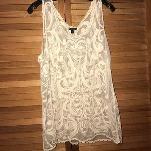 Express sheer tank top | L
