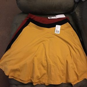 Bundle of Forever 21 skater skirts