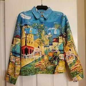 Vintage colorful novelty jacket