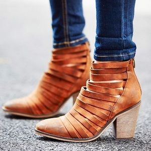 $198 Free People Hybrid Heel Boot Terra-cotta 11