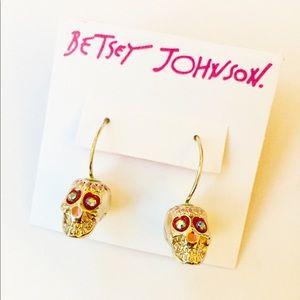 NWT Betsey Johnson Vintage skull earrings