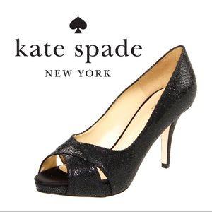 Kate Spade Billie Starlight Peep Toe Pumps