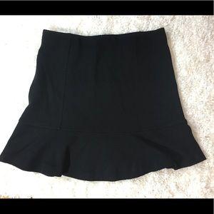 Ann Taylor Loft stretch black flare skirt