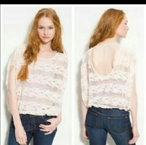 Free people lace  blouse