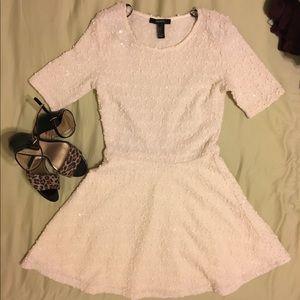 Off white shiny dress