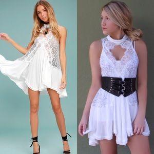Free People White Lace Dress
