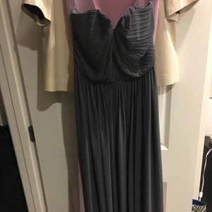 H&M gray Strapless Maxi Dress Size 6
