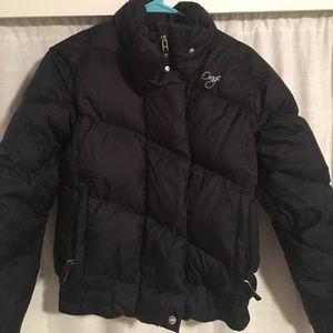 ORAGE- Black Down Puffer Winter Coat