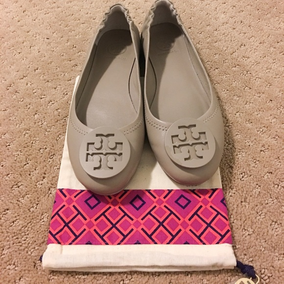 Tory Burch Shoes - Tory Burch French Grey Minnie Ballet Flats size6.5