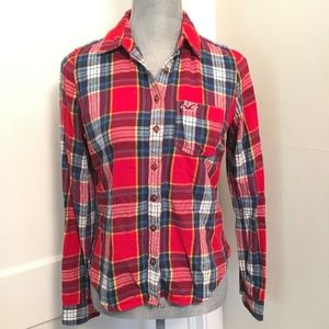 Plaid Button Up flannel Long Sleeve