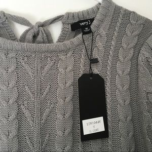 Very J Sweaters - Very J Grey Cute Sweater Dress