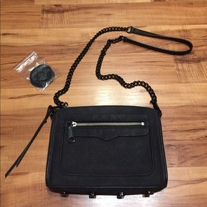 Rebecca Minkoff black pebbled crossbody bag