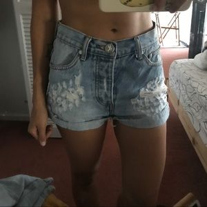 ONE One Teaspoon denim short Hawks 23 24 25