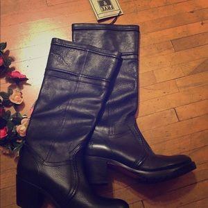 Frye W Jane 14L Stitch Black, leather. Never worn