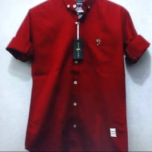 Women's red shirt dressy