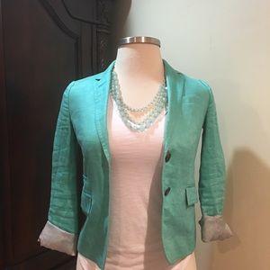 Jcrew blazer women turquoise