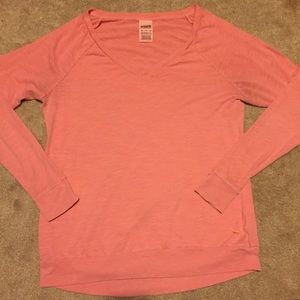 PINK oversized light pink long sleeve tee