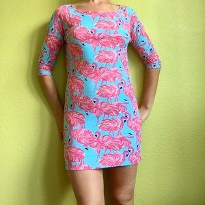 Lilly Pulitzer WILD flamingo dress