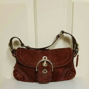 Small coach suede purse