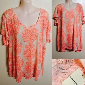 Lucky Brand Plus Size T Shirt 2x (18w-20w)