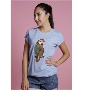 Brat and Suzie sequined parrot tee - Modcloth