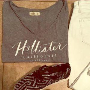 Gray Hollister top