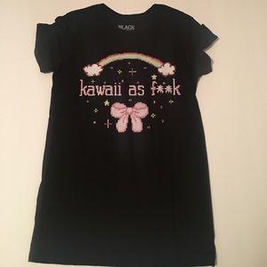 Hot Topic • T Shirt • Black • Kawaii as F**k