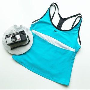 Nike Strappy Sport Tank With Shelf Bra Run Cycle