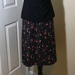 Express NWT black floral dress skirt