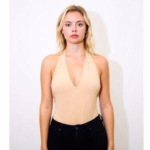 American Apparel Nude Bodysuit, Size M
