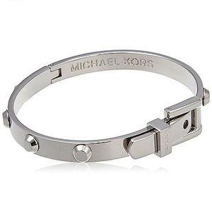 Auth Michael Kors Astor Stainless Buckle Bracelet